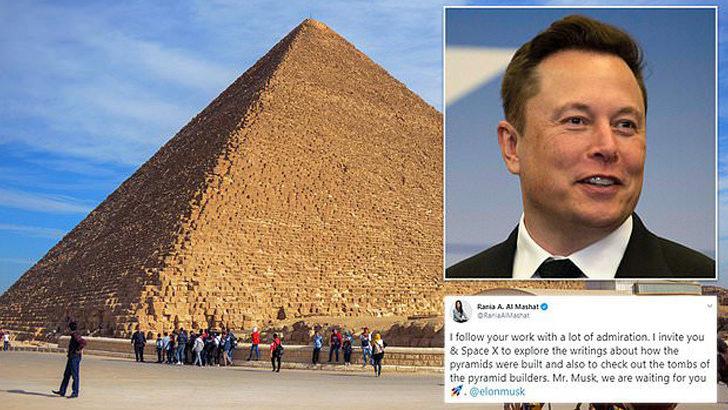 Mısır piramitlerini uzaylılar inşa etti diyen Musk'a Mısır'dan davet