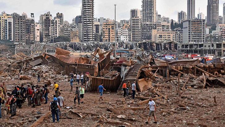 Patlamanın ardından Beyrut'ta 2 hafta OHAL ilan edildi