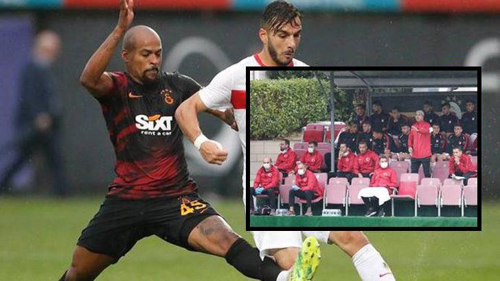 Galatasaray ile hazırlık maçı oynayan Ümit Milli Takım sahadan çekildi
